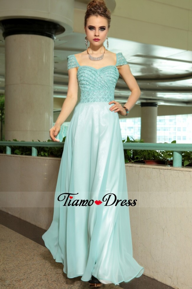 Modest prom dresses with sleeves new fashion 2014 from Tiamo-dress ...